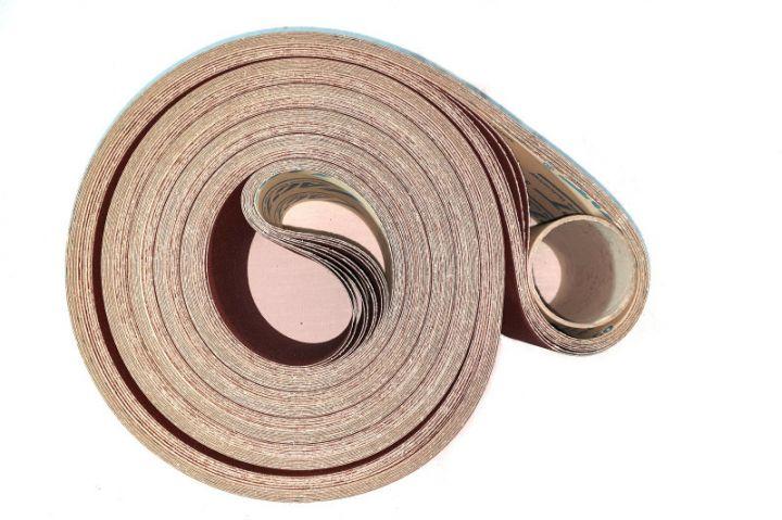 Bande abrasive sans fin, support papier, pour ponceuse fixe